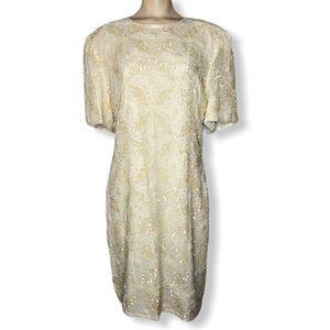 NWT Vintage Deadstock Beaded Laurence Kazar Dress